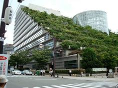 Jardín vertical en Osaka, Japón.