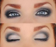 This is a beautiful smoky eye look! I would probably go slightly less heavy, but the mix of colors is great!