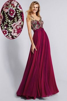 Chic Chiffon, Bateau Neckline, A-line Prom Dress With Lace Appliques, Customize Made new fashion ,Prom Dress A Line Prom Dresses, Beautiful Prom Dresses, Evening Dresses, Flower Dresses, Elegant Dresses, Formal Dresses, Chic Dress, Lace Dress, Party Gowns