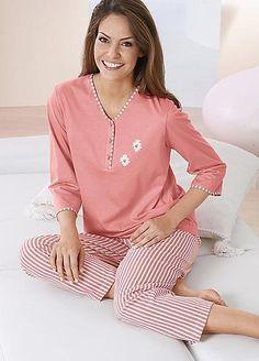 Cotton Striped Pyjamas by Witt Night Gown Dress, Sexy Night Dress, Striped Pyjamas, Cotton Pyjamas, Night Pajama, Pajama Set, Night Suit For Women, Black Skirt Outfits, Pijamas Women