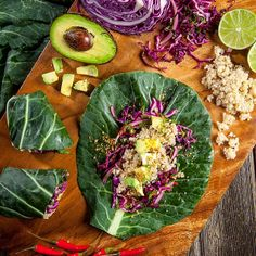 Collard Green Wraps // overflowing with antioxidants, omega 3's, protein, fiber and healthy fat via vega #healthy #clean #superpowers