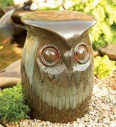 Owl Garden Stool in Holiday 2012 from Wind & Weather on shop.CatalogSpree.com, my personal digital mall.