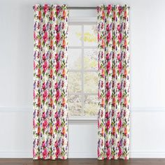 Chintz-like Pink Floral Grommet Curtains | Loom Decor