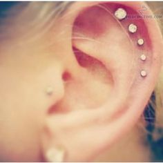 sweet stud ear piercings - Google Search