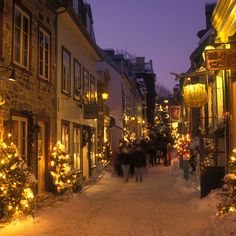 Oh, this is such a beautiful Christmas scene in Quebec. Via T+L (www.travelandleisure.com).