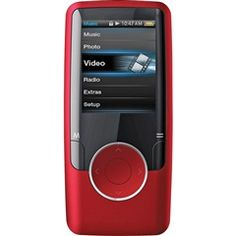 """Red 4GB 1.8"""" Video MP3 Player With FM Tuner  Coby MP620-4GRED  PRICE DROP!  Free Shipping    #Red #MP3 #Player"""