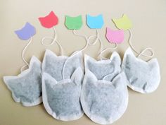 Cat Shaped Tea Bags by Contours Albion, Etsy