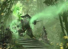 Pandas in Jade Forest! World of Warcraft: Mists of Pandaria.  Mists by d1eSELxxxx on deviantART
