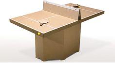 table de pingpong en carton