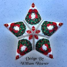Make you own beautiful Christmas Wreath Star Beading technique: Peyote Stitch Project level: Intermediate/advanced. You should be familiar with Peyote stitch. Beading Tutorial for Christmas Wreath Star is very detailed, easy to follow, step by step with clear beading