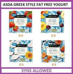 Asda greek style fat free yogurts