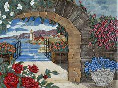 Floral Gate Mosaics Lake