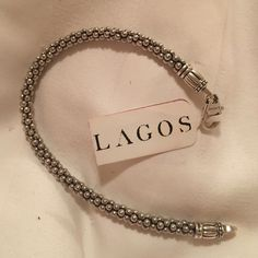 Lagos bracelet Brand new Lagos bracelet! Never been worn, selling because I thought it had a different clasp and was thicker. No trades will take offers Lagos Jewelry Bracelets