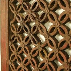 """Antique Asian Chinese Carved Wooden Wall Art hanging Window Screen Panel 41"""" wide, 41"""" Tall"""