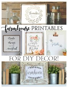 FREE Farmhouse Printables for DIY Decor