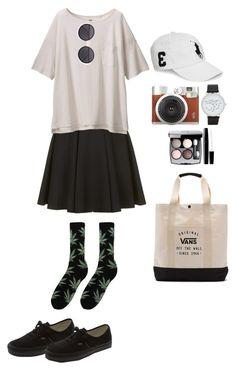 """""""Chill out"""" by nabilci on Polyvore featuring Topshop, Uniqlo, Vans, ALDO, Chanel, Linda Farrow, Ralph Lauren and HUF"""