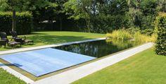 Ecologische zwemvijver met rolluik en overloop   Prijs Zwembad