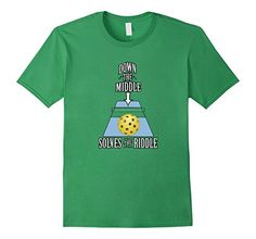 Down the middle solves the riddle Pickleball shirt gift