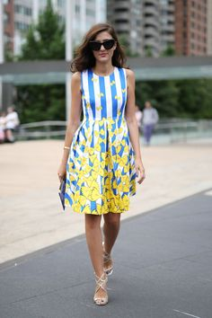 Pin for Later: #TBT: See All the Best Street Style From NYFW Last Season NYFW Street Style Day 6 We can't get over the adorable bow ties on Eleonora Carisi's dress.