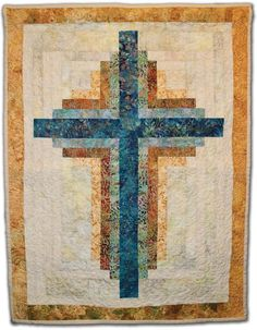 Log Cabin Cross ... by Karen Wood Craigie | Quilting Pattern