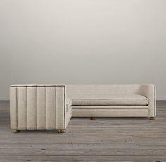 Maxime Upholstered Corner Sectional | Sectionals | Restoration Hardware
