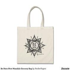 Be Here Now Mandala Grocery Bag
