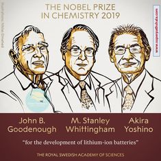 "The Royal Swedish Academy of Sciences has decided to award the 2019 Nobel Prize in Chemistry to John B. Goodenough M. Stanley Whittingham Akira Yoshino ""for the development of lithium-ion batteries. Akira, Fluorescence Microscopy, Fossil, Nobel Prize In Chemistry, Benefit, Software House, Renewable Sources, Renewable Energy, Nobel Prize Winners"