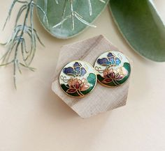 BohoKimono - Gemstone Jewellery, Boho Clothing   BohoKimono Etsy Earrings, Gold Earrings, Pink And Green, Purple, Boho Kimono, Butterfly Design, Boho Outfits, Ear Piercings, Gemstone Jewelry