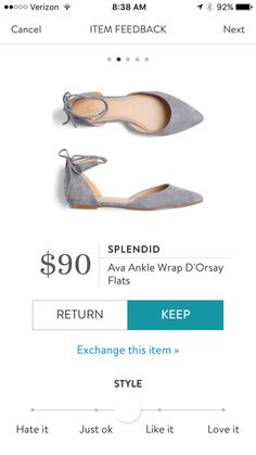 Grey ankle strap flats. Perfect with skinnies for fall. Stitch fix fashion trends. Stitch fix fall 2016.