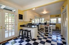 Delightful retro kitchen with updated appliances and cabinets. #HomesEastSacramento