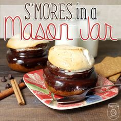 S'mores in a Mason Jar - The Cottage Market