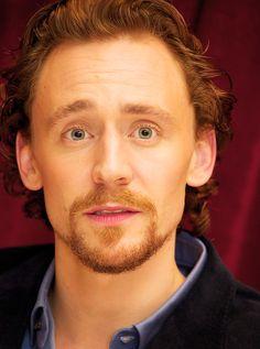 Tom's lovely green eyes.