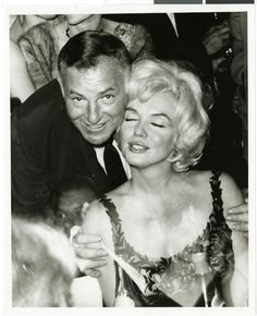 Showman and producer Jack Entratter with the famous Marilyn Monroe at the Sands Hotel in Las Vegas, 1955.  Part of UNLV Libraries digital collection. #UNLV