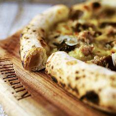 Salsiccia Pizza, Pork Sausage Meat, Porcini Mushroom, Button Mushroom and Mozzarella