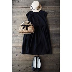 Milly Molly Mandy. Too cute. Black dress, white hat, 1920s vibes.