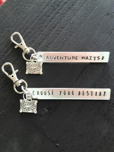 Metal stamping Keychain  Quotes