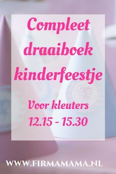 Compleet draaiboek voor een kinderfeestje. Compleet met rustpauze en uitraasmomentjes. Handig! Games For Kids, Diy For Kids, Activities For Kids, Crafts For Kids, Beste Mama, Happy B Day, Kids Corner, Baby Party, Childrens Party