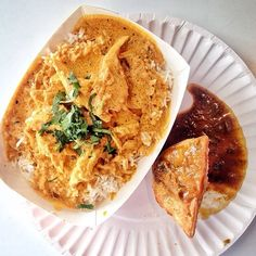 Chicken curry from India Jones Chow Truck