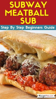 Subway Meatball Sub. A delicious air fryer copycat recipe featuring how to make your own homemade Subway Meatball Sub. One of my all-time favourite copycat air fryer recipes. recipe airfryer Subway Meatball Sub (Air Fryer Copycat Recipe) Subway Meatball Sub Recipe, Subway Copycat Recipe, Meatball Subs, Copycat Recipes, Meatball Sandwiches, Lunch Sandwiches, Lunch Recipes, Beef Recipes, Dinner Recipes