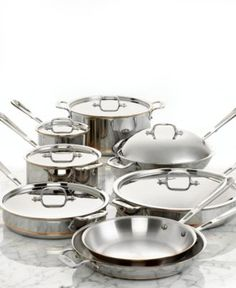 I LOVE my All-Clad cookware. Seriously the best investment besides my Kitchen Aid mixer. If you cook, you NEED these.