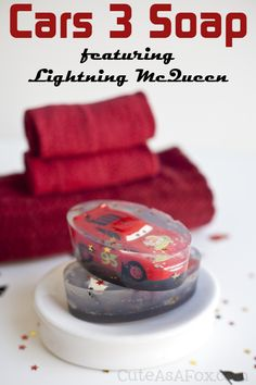 97d3e4f93c466 Cars 3 Soap with Lightning McQueen. Encourage good hygiene for your kids  with this fun