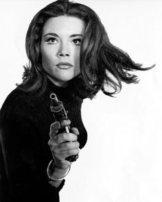 """Diana Rigg as Emma Peel in """"The Avengers,"""" a classic 1960's British TV show--er, I mean """"programme."""""""