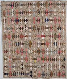 Calico Diamonds Quilt: Circa 1880; Pennsylvania … | Pinteres… : quilts n calicoes - Adamdwight.com