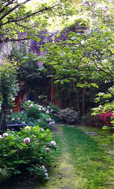 51 Romantic Backyard Garden Ideas You Should Try Love Garden, Shade Garden, Dream Garden, Big Garden, Back Gardens, Outdoor Gardens, Garden Paths, Garden Landscaping, Ideas Terraza