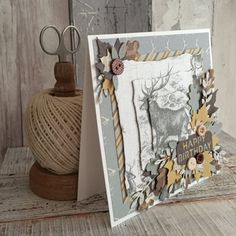 First Edition Wild at Heart Decoupage Card by design team member Angie
