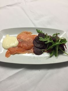 Beetroot Cured Salmon with Horseradish