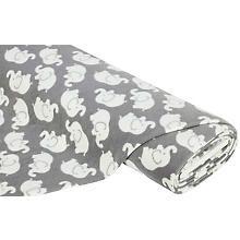 Fleecestoff elephant, gray / white