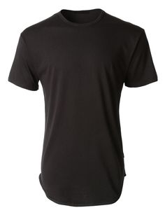 82460032c LE3NO Mens Hipster Hip Hop Longline Short Sleeve Crewneck T Shirt  (CLEARANCE)