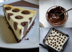 DIY Make Polka Dot Cheesecake  http://coolcreativity.com/food/diy-make-polka-dot-cheesecake/