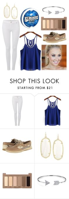 """"""""""" by emmashae1 ❤ liked on Polyvore featuring 7 For All Mankind, Sperry, Kendra Scott, Urban Decay and Bling Jewelry"""